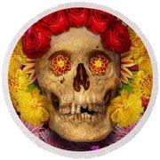 Day Of The Dead - Dia De Los Muertos Round Beach Towel