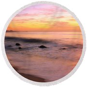 Daybreak Seascape Round Beach Towel