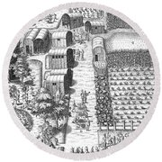 De Bry: Secoton Village Round Beach Towel