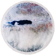 Dead Sea From Space Round Beach Towel by NASA / Science Source
