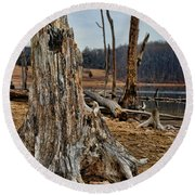Dead Wood Round Beach Towel