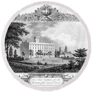 Deaf And Dumb Asylum, 1835 Round Beach Towel
