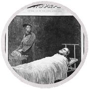 Death Of Ulysses S. Grant Round Beach Towel