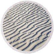 Death Valley Dune  Round Beach Towel