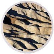 Death Valley Erosion Round Beach Towel