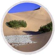 Death Valley Salt Flat Round Beach Towel