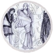 Deco Fashions Round Beach Towel