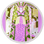 Deco Ladies Frostwork And Iris Round Beach Towel