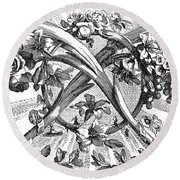 Decorative Engraving Round Beach Towel
