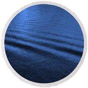 Deep Blue Sea Round Beach Towel by Carol Groenen
