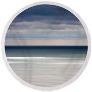 Deep Horizon Round Beach Towel