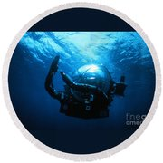 Deep Rover Round Beach Towel