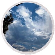 Deep Skies Round Beach Towel