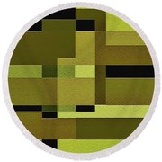 Defiance Round Beach Towel by Ely Arsha
