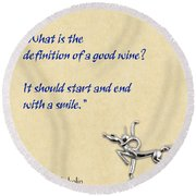 Definition Of Wine Round Beach Towel by Elaine Plesser