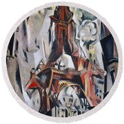 Delaunay: Eiffel Tower, 1910 Round Beach Towel