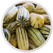 Delicata Winter Squash Round Beach Towel
