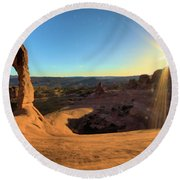Delicate Arch Bowl Round Beach Towel