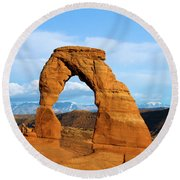 Delicate Sights Round Beach Towel