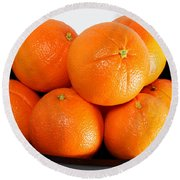 Delicious Cara Cara Oranges Round Beach Towel