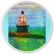 Delight House Round Beach Towel