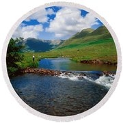 Delphi Fishery, Co Mayo, Ireland Round Beach Towel