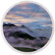 Denali Dawn Round Beach Towel