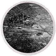 Denver In The Sky Round Beach Towel