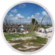 Deplorable Paradise Abode Round Beach Towel