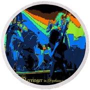 Derringer Rock Spokane 1977 Round Beach Towel