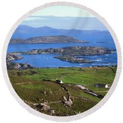 Derrynane Harbour, Caherdaniel, Ring Of Round Beach Towel