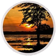 Deschenes Sunset Round Beach Towel