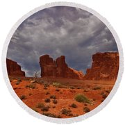 Desert Walls Round Beach Towel