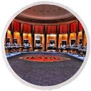 Detroit Pistons Locker Room Auburn Hills Mi Round Beach Towel
