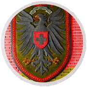 Deutsch Weimarer Shield Round Beach Towel