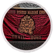 Devil Dogs Round Beach Towel
