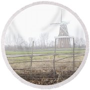 Dezwaan Windmill In Holland Michigan No.232 Round Beach Towel