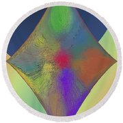 Diamond Abstract Round Beach Towel