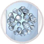 Diamonds... Round Beach Towel