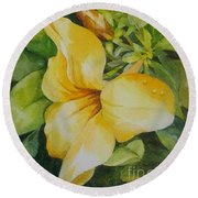 Dianne's Flower Round Beach Towel