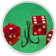 Dice Red Hook 1 A Round Beach Towel