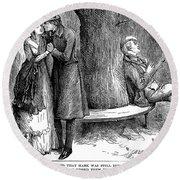 Dickens: Martin Chuzzlewit Round Beach Towel