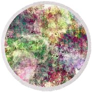 Digital Abstract Round Beach Towel
