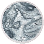 Digital Art Round Beach Towel