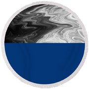 Digital Cloud Abstract Round Beach Towel
