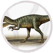 Dilophosaurus Wetherilli, A Prehistoric Round Beach Towel