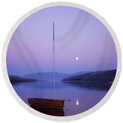 Dingle Harbour, Co Kerry, Ireland Round Beach Towel