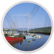 Dingle Peninsula, Dingle Harbour Round Beach Towel