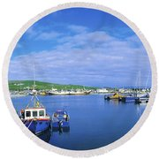 Dingle Town & Harbour, Co Kerry, Ireland Round Beach Towel