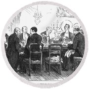 Dinner Party, 1880 Round Beach Towel
